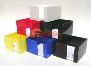 Krabičky na poznámkové bločky - různé barvy