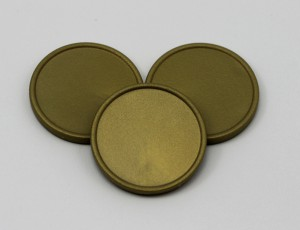 Žetony - barva zlatá