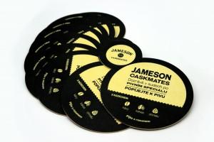 Papírové pivní tácky Jameson Caskmates