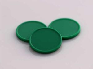 Plastová kolečka (žetony) zelené tmavé