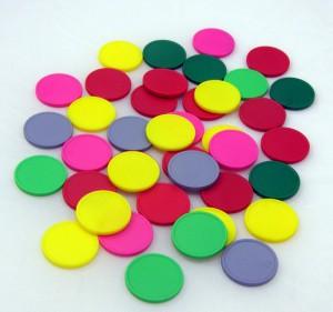 Plastové mince (žetony) do vozíku