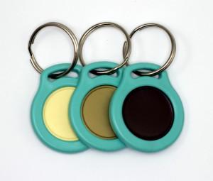 Klíčenky se žetonem - barva menthol