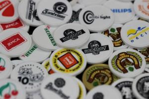 Plastová kolečka - reklamní žetony s potiskem