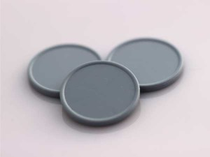 Plastová kolečka (žetony) šedé