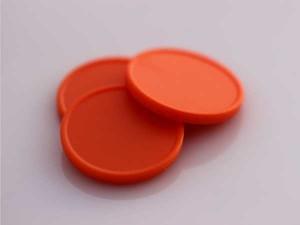 Plastová kolečka (žetony) oranžová