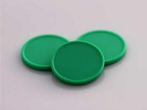 Plastová kolečka (žetony) zelené
