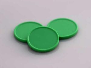 Plastová kolečka (žetony) zelené světlé