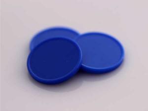 Plastová kolečka (žetony) modrá