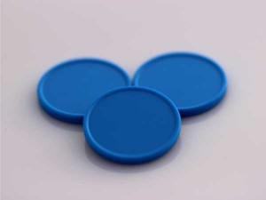 Plastová kolečka (žetony) modré světlá