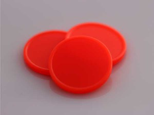 Plastová kolečka (žetony) oranžová svítivá