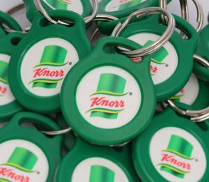 Klíčenky s potiskem žetonů - Knorr