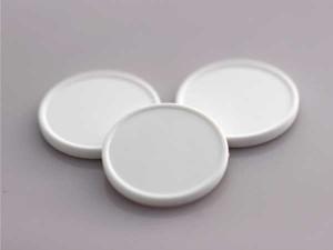 Plastová kolečka (žetony) bílé (netransparentní)