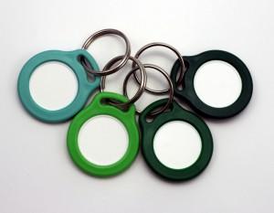Přívěsky se žetonem - zelené odstíny
