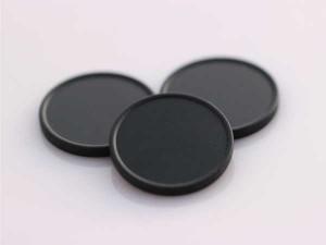 Plastová kolečka (žetony) černá