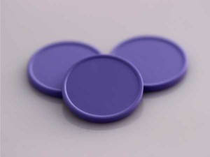 Plastová kolečka (žetony) fialová
