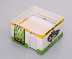 Krabička s potiskem na papírky a poznámky