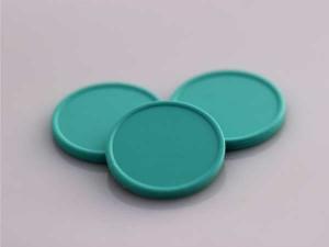 Plastová kolečka (žetony) zelené mentholové