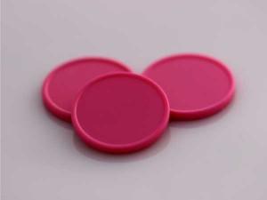 Plastová kolečka (žetony) růžové